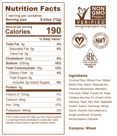 2.6oz Bite Pouch Nutrition Panel